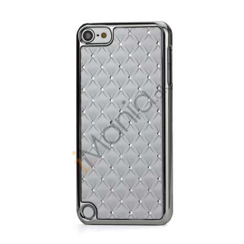 Superb  Diamant Galvaniseret Hard Case til iPod Touch 5 - Sølv