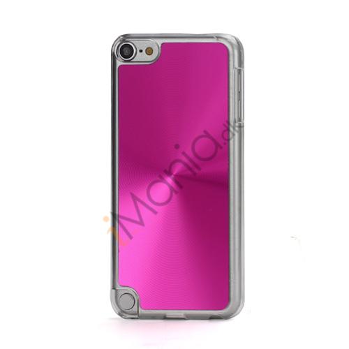 Metallic CD Mønster Transparent Kant Hard Case Cover Skin til iPod Touch 5 - Rose