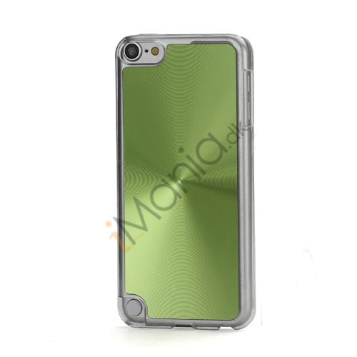 Metallic CD Mønster Transparent Kant Hard Case Cover Skin til iPod Touch 5 - Grøn