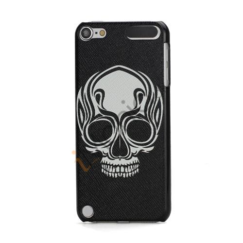 Hard Case Cover Skin til iPod Touch 5 Black and White Præget Dødningehoved Hoved