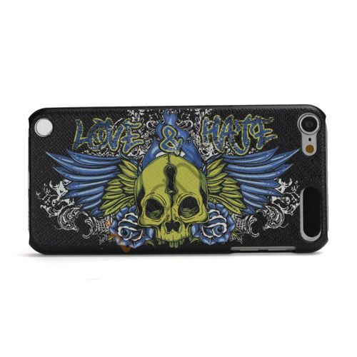 Stilfuld Love  and  Hate Embossing Relief Hard Protetive Case til iPod Touch 5