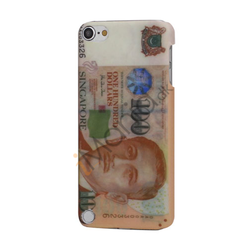 Singapore One Hundred Dollars Thin Rubberized Hard Back Case til iPod Touch 5