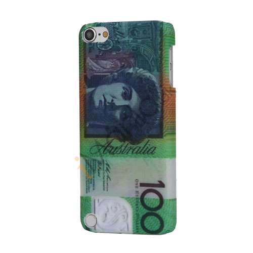 Image of   Australien 100 Dollars Valuta Gummibelagt Hard Beskyttelses Case til iPod Touch 5