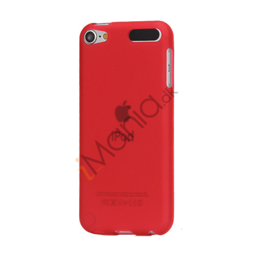 Glat TPU Gel Case Tilbehør til iPod Touch 5 - Rød