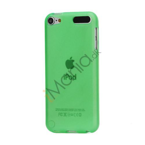 Glat TPU Gel Case Tilbehør til iPod Touch 5 - Grøn