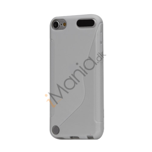 S-formet TPU Cover til iPod Touch 5 - Hvid