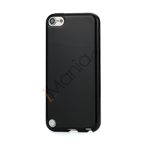 Skinnende Ensfarvet TPU Cover Case til iPod Touch 5 - Sort