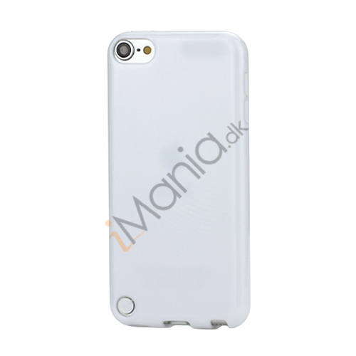 Image of   Skinnende Ensfarvet TPU Cover Case til iPod Touch 5 - Hvid