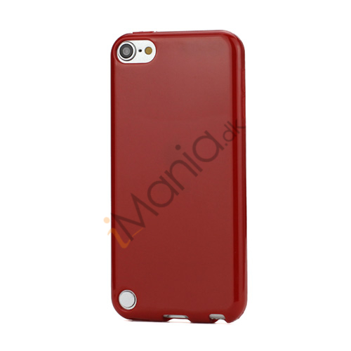 Image of   Skinnende Ensfarvet TPU Cover Case til iPod Touch 5 - Rød