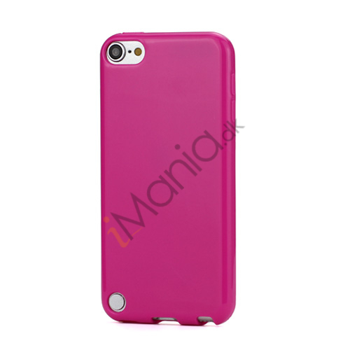 Skinnende Ensfarvet TPU Cover Case til iPod Touch 5 - Rose