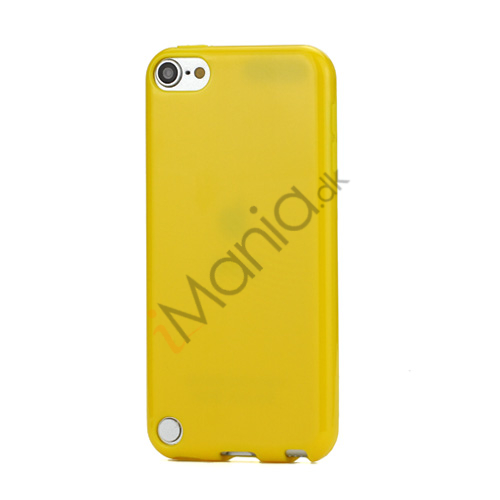 Image of   Skinnende Ensfarvet TPU Cover Case til iPod Touch 5 - Gul