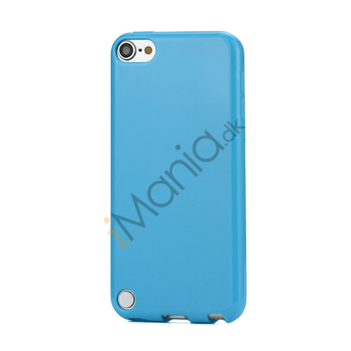 Image of   Skinnende Ensfarvet TPU Cover Case til iPod Touch 5 - Blå