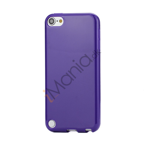 Image of   Skinnende Ensfarvet TPU Cover Case til iPod Touch 5 - Lilla