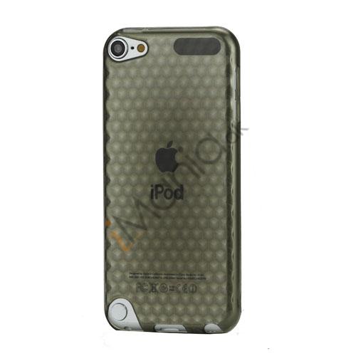 iPod Touch 5 Sekskantet Diamant TPU Gel Skin Cover - Gennemsigtig Grå