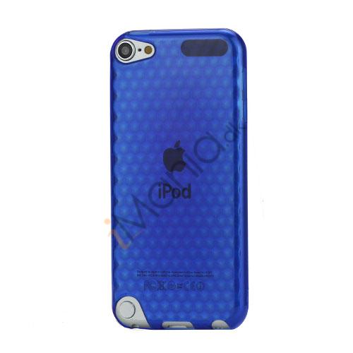 iPod Touch 5 Sekskantet Diamant TPU Gel Skin Cover - Gennemsigtig Blå