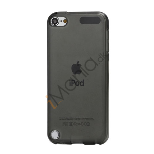 Glat Frosted Fleksibel TPU Gel Skin Cover til iPod Touch 5 - Gennemsigtig Sort