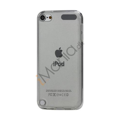 Glat Frosted Fleksibel TPU Gel Skin Cover til iPod Touch 5 - Gennemsigtig Hvid