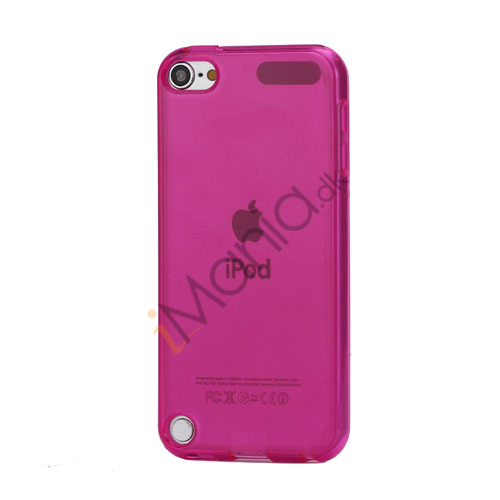 Glat Frosted Fleksibel TPU Gel Skin Cover til iPod Touch 5 - Gennemsigtig Rose
