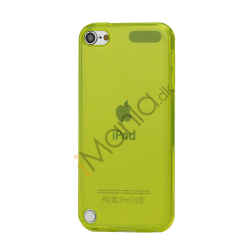 Glat Frosted Fleksibel TPU Gel Skin Cover til iPod Touch 5 - Transparent Gul