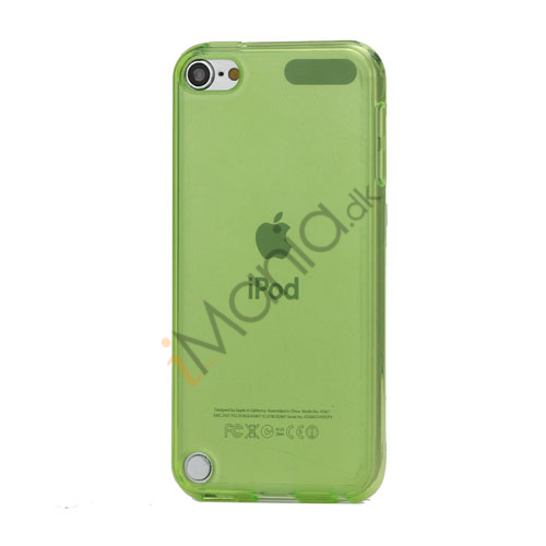 Glat Frosted Fleksibel TPU Gel Skin Cover til iPod Touch 5 - Transparent Green