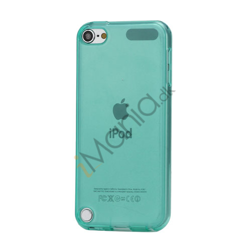 Image of   Glat Frosted Fleksibel TPU Gel Skin Cover til iPod Touch 5 - Gennemsigtig Cyan