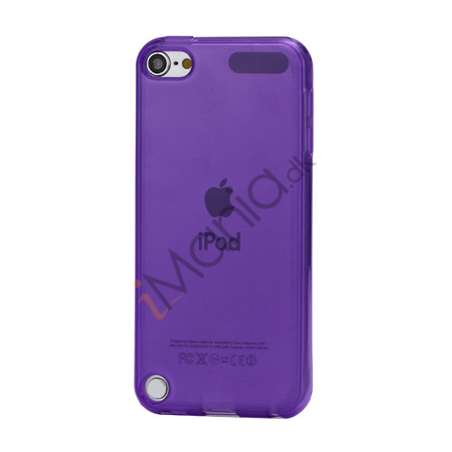 Glat Frosted Fleksibel TPU Gel Skin Cover til iPod Touch 5 - Gennemsigtig Lilla