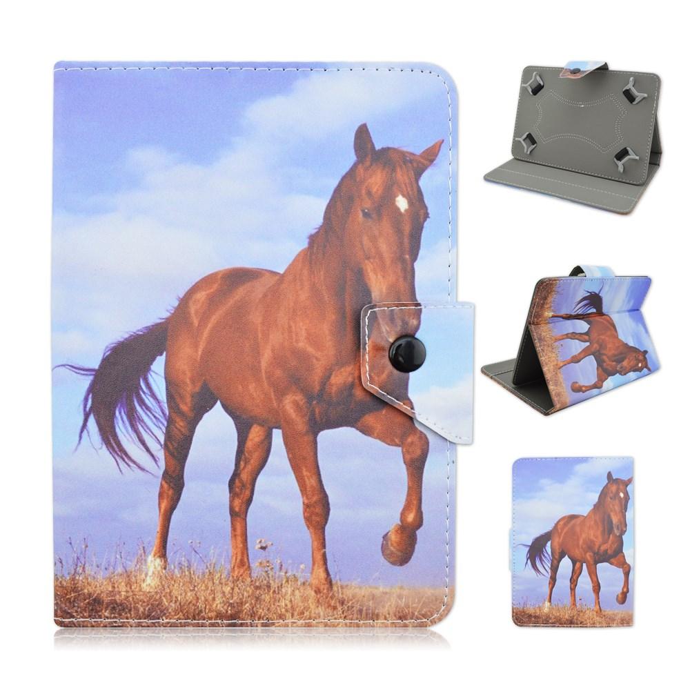 Tablet-etuier med hestemotiver