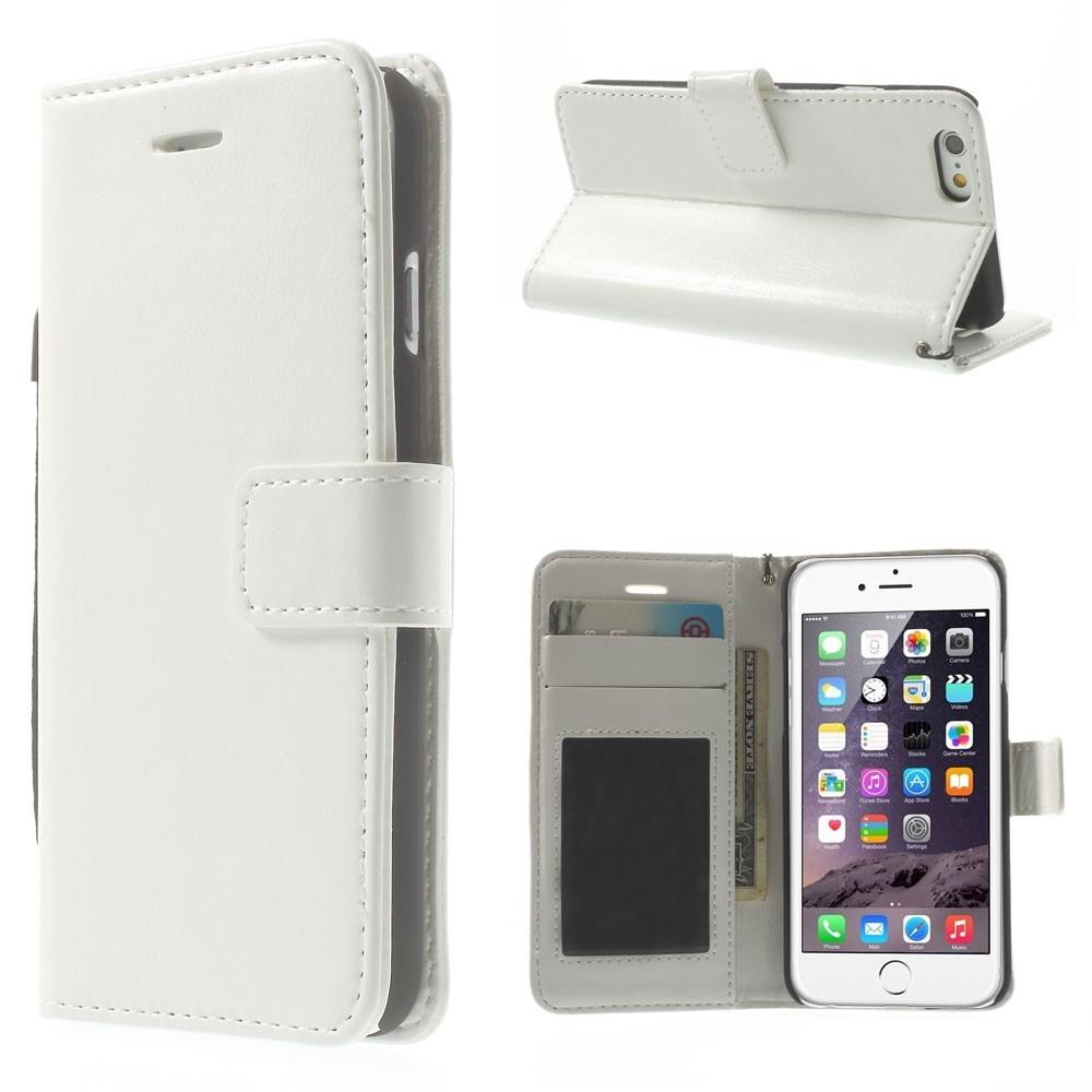 iPhone 6 / 6S PU-læderetui, hvid