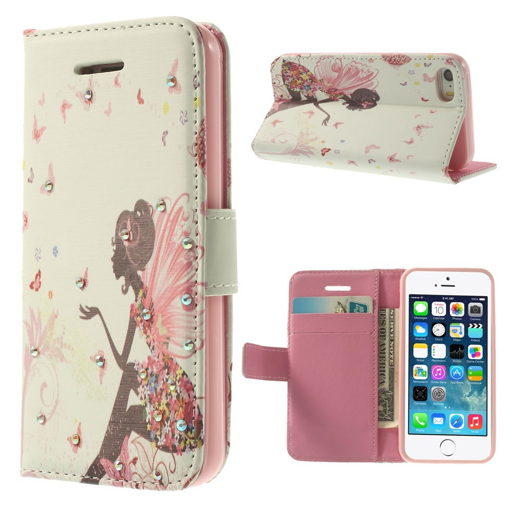 Image of   iPhone 5 Bling-etui - Sommerfuglepige