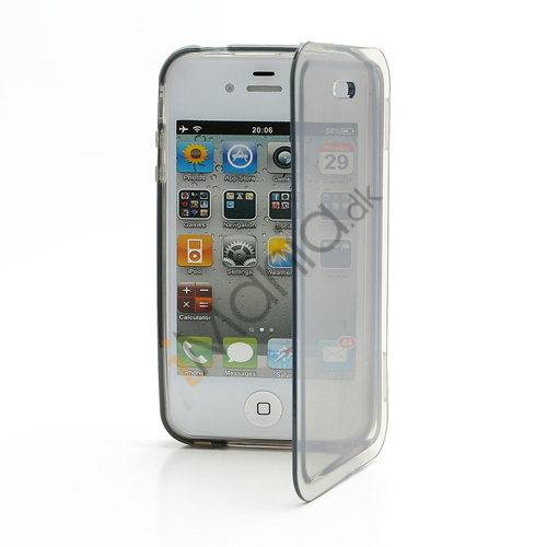 Image of   Dobbelt iPhone 4 4S TPU Cover - Gennemsigtig Grå