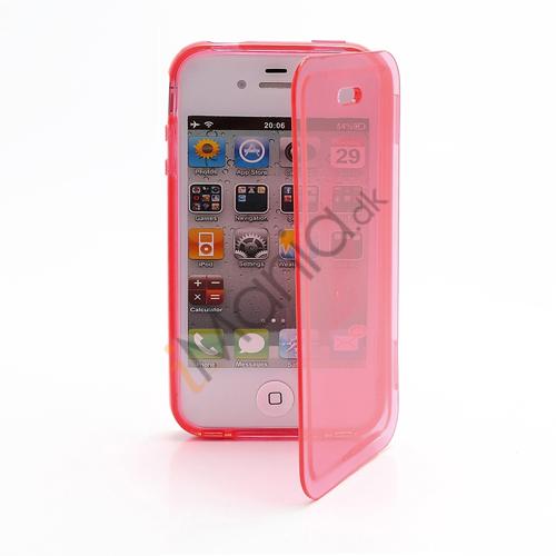 Image of   Dobbelt iPhone 4 4S TPU Cover - Gennemsigtig Rød