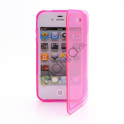 Image of   Dobbelt iPhone 4 4S TPU Cover - Gennemsigtig Pink