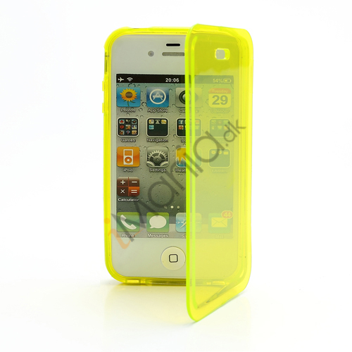 Image of   Dobbelt iPhone 4 4S TPU Cover - Gennemsigtig Gul