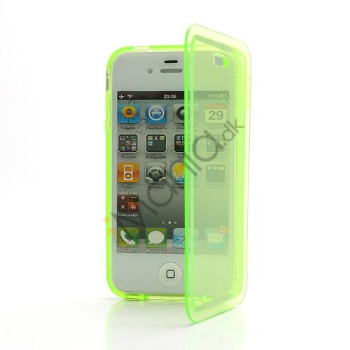 Image of   Dobbelt iPhone 4 4S TPU Cover - Gennemsigtig Gulgrøn