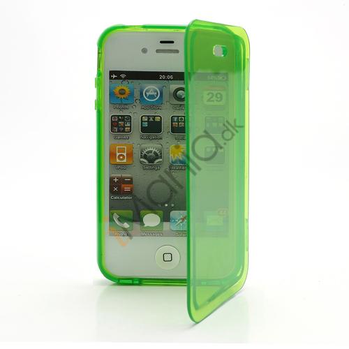 Image of   Dobbelt iPhone 4 4S TPU Cover - Gennemsigtig Grøn