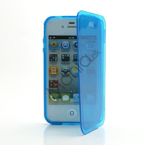 Image of   Dobbelt iPhone 4 4S TPU Cover - Gennemsigtig Blå