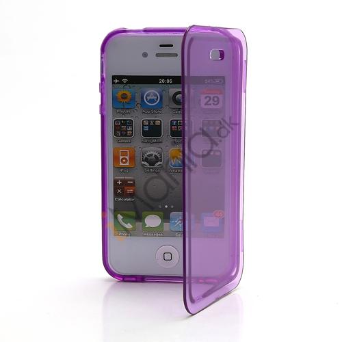 Image of   Dobbelt iPhone 4 4S TPU Cover - Gennemsigtig Lilla