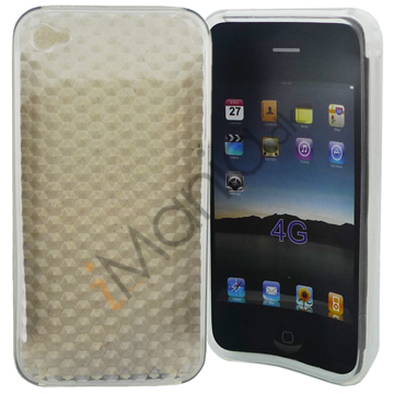 Image of   Ternet TPU Case til iPhone 4, Transparent