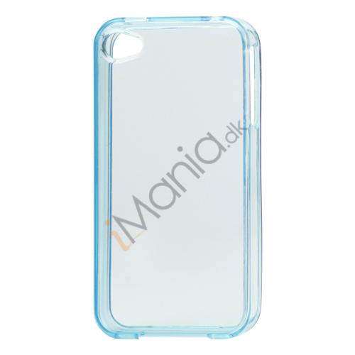 Image of   Blankt gennemsigtigt iPhone 4 cover (TPU) - Gennemsigtig Blå