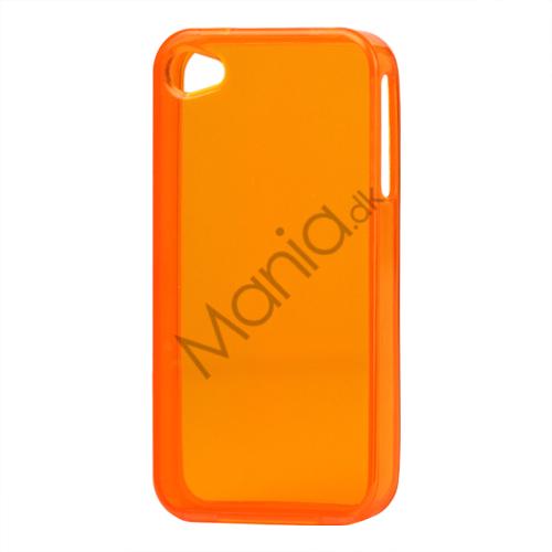 Image of   Blankt gennemsigtigt iPhone 4 cover (TPU) - Gennemsigtig Orange