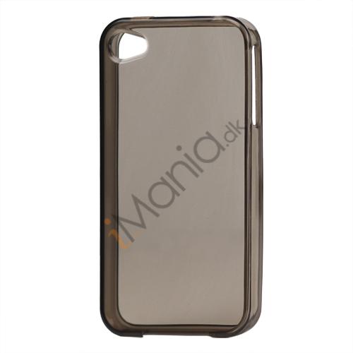 Image of   Blankt gennemsigtigt iPhone 4 cover (TPU) - Gennemsigtig Grå
