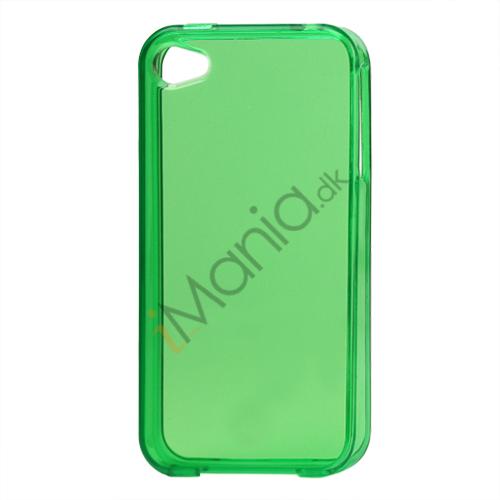 Image of   Blankt gennemsigtigt iPhone 4 cover (TPU) - Gennemsigtig Grøn