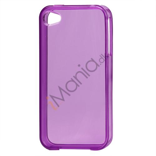 Image of   Blankt gennemsigtigt iPhone 4 cover (TPU) - gennemsigtig lilla