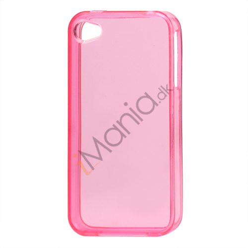 Image of   Blankt gennemsigtigt iPhone 4 cover (TPU) - Gennemsigtig Pink