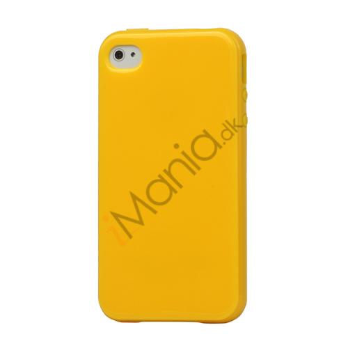Image of   Blankt ensfarvet cover til iPhone 4 og iPhone 4S (TPU) - Gul