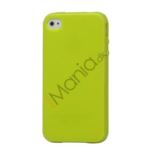 Image of   Blankt ensfarvet cover til iPhone 4 og iPhone 4S (TPU) - Grøn