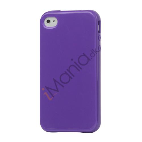 Image of   Blankt ensfarvet cover til iPhone 4 og iPhone 4S (TPU) - Lilla