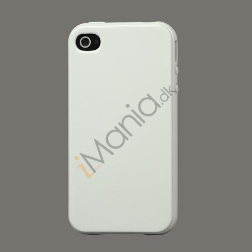Image of   Blankt ensfarvet cover til iPhone 4 og iPhone 4S (TPU) - Hvid