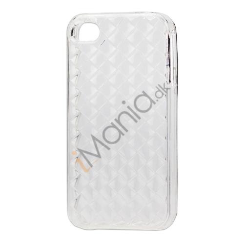 Image of   Gennemsigtigt TPU Case til iPhone 4 4S med vævet mønster - Gennemsigtig
