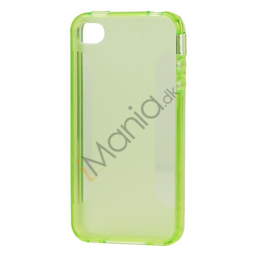 Image of   TPU cover med udskæringer til iPhone 4 og 4S - Grøn